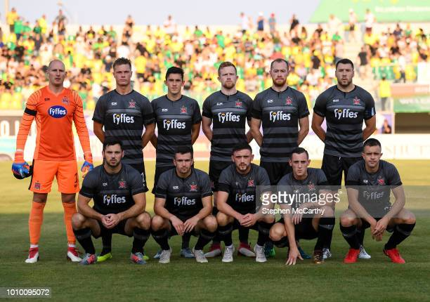 Larnaca Cyprus 2 August 2018 The Dundalk team back row from left Gary Rogers Daniel Cleary Jamie McGrath Sean Hoare Chris Shields and Brian Gartland...