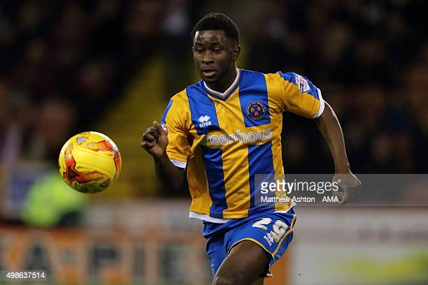 Larnell Cole of Shrewsbury Town during the Sky Bet Football League One match between Sheffield United and Shrewsbury Town at Bramall Lane on November...