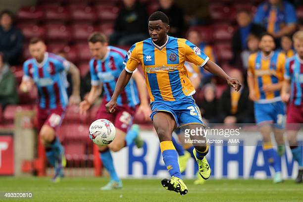 Larnell Cole of Shrewsbury Town during the Sky Bet League One match between Scunthorpe United and Shrewsbury Town at Glanford Park on October 17 2015...