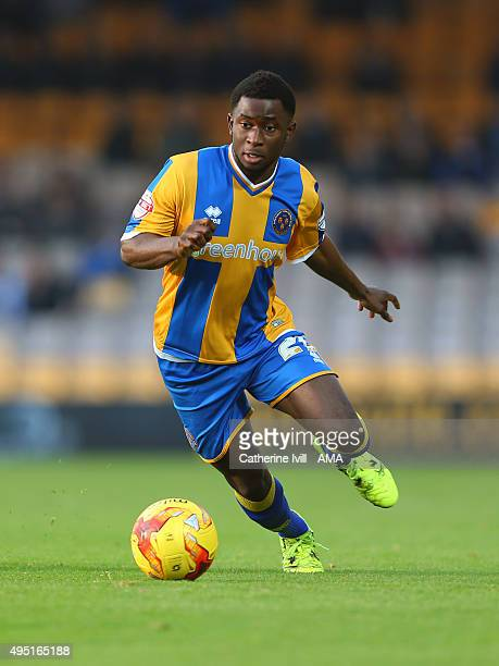 Larnell Cole of Shrewsbury Town during the Sky Bet League One match between Port Vale and Shrewsbury Town at Vale Park on October 31 2015 in Burslem...