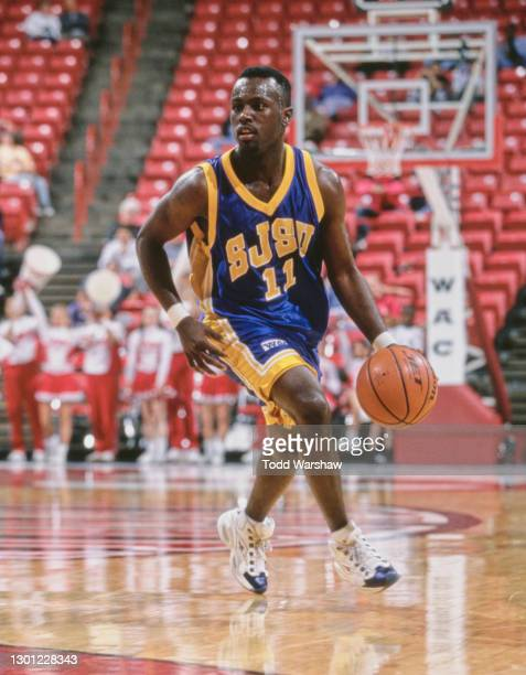 LaRon Campbell-Hall, Guard for the San Jose State Spartans during the NCAA Western Athletic Conference Tournament First Round college basketball game...