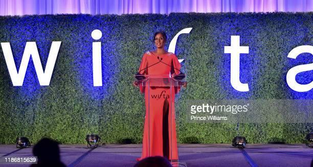 LaRonda Sutton speaks at the 2019 WIFTA Gala at Four Seasons Hotel on November 9 2019 in Atlanta Georgia