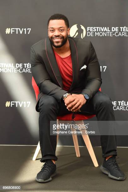 LaRoyce Hawkins from TV Show Chicago PD poses for a Photocall during the 57th Monte Carlo TV Festival Day Two on June 17 2017 in MonteCarlo Monaco