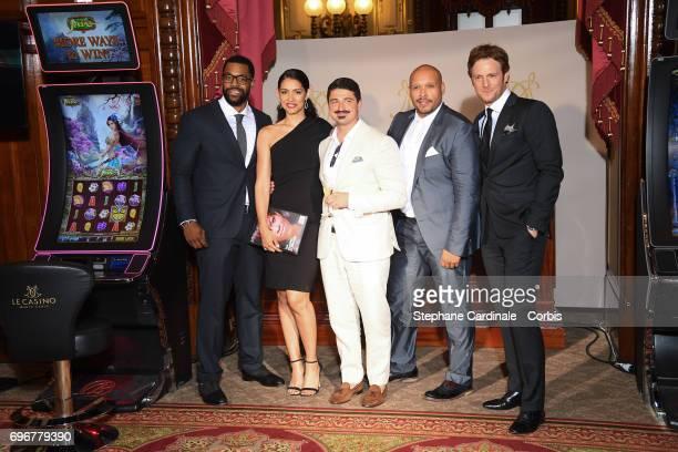 LaRoyce Hawkins Miranda Rae Mayo Yuriy Sardarov Joe Minoso and Nick Gehlfuss attend the After Party Opening Ceremony of the 57th Monte Carlo TV...