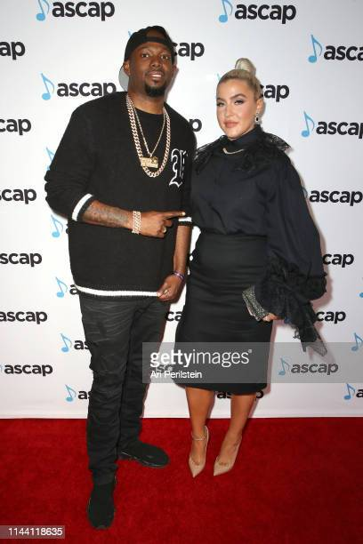 Larrance Dopson and Joelle James attend the ASCAP 2019 Pop Music Awards at The Beverly Hilton Hotel on May 16 2019 in Beverly Hills California