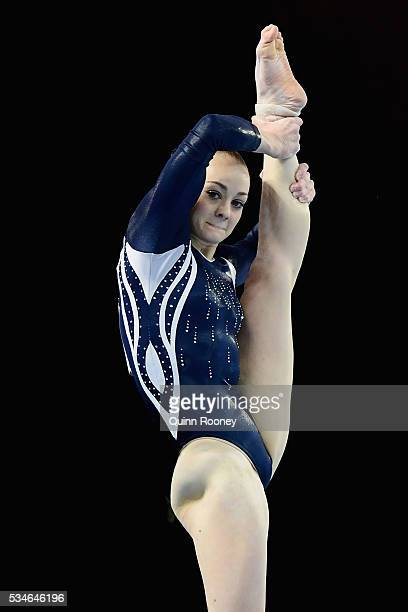 Larrissa Miller of Victoria competes on the floor during the 2016 Australian Gymnastics Championships at Hisense Arena on May 27 2016 in Melbourne...