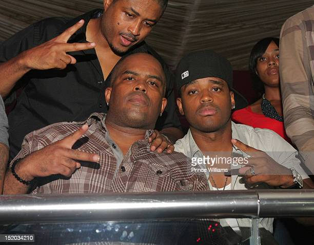 Larron Tate Lahmard Tate and Larenz Tate attend a party held at Velvet Nightclub on September 2 2012 in Atlanta Georgia