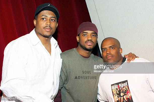 Larron Tate Larenz Tate and Lahmard Tate during Urban Film Review Presents Love Come Down at Woodruff Art Center in Atlanta Georgia United States
