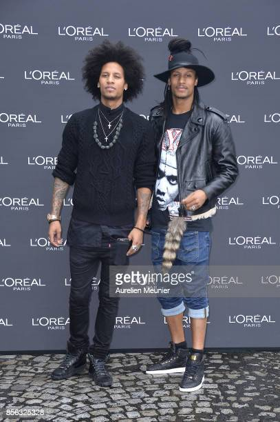 Larry and Laurent Bourgeois attends Le Defile L'Oreal Paris as part of Paris Fashion Week Womenswear Spring/Summer 2018 at Avenue Des Champs Elysees...