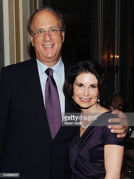 Larry and Lori Fink attend The NYU Cancer Institute Gala at The Pierre Hotel on October 5 2010 in New York City
