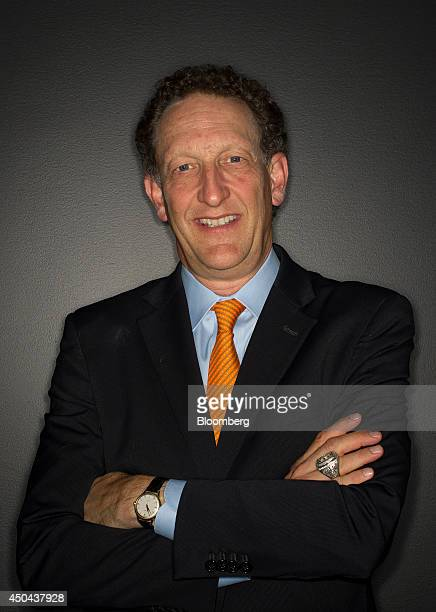 Larry Baer president and chief executive officer of the San Francisco Giants stands for a photograph after a Bloomberg West Television interview in...