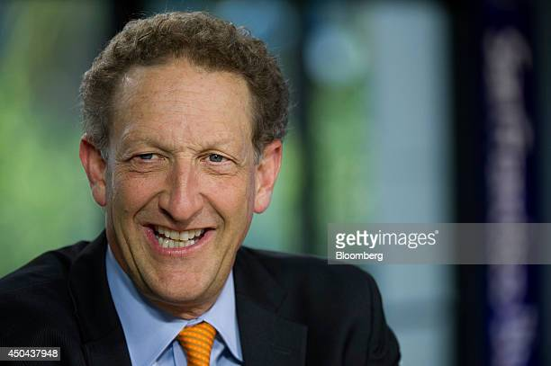Larry Baer president and chief executive officer of the San Francisco Giants smiles during a Bloomberg West Television interview in San Francisco...