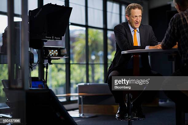 Larry Baer president and chief executive officer of the San Francisco Giants speaks during a Bloomberg West Television interview in San Francisco...