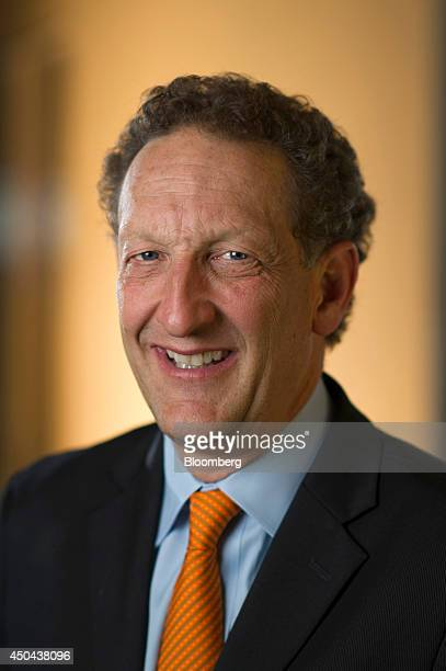 Larry Baer president and chief executive officer of the San Francisco Giants sits for a photograph after a Bloomberg West Television interview in San...