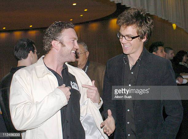 Larry Bagby and Tyler Hilton during Walk the Line Los Angeles DVD Release at ArcLight in Los Angeles California United States
