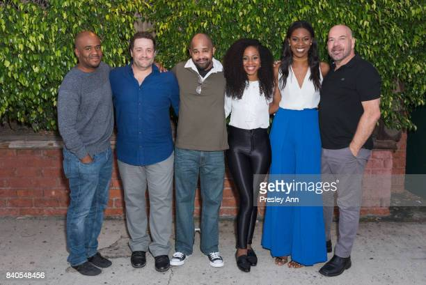 Larry Bates Peter Story Anthony Djuan Danielle Mone Truitt Stacy Ike and Jason Stewart attend More Than A Hashtag at The Matrix Theatre on August 28...