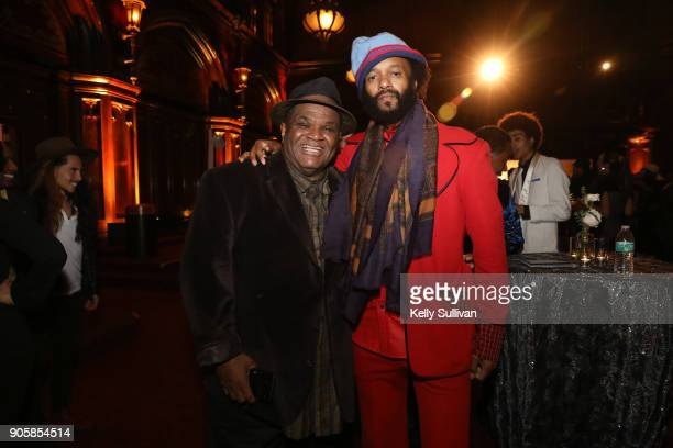 Larry Batiste poses for a photo with Fantasic Negrito at the San Francisco 60th GRAMMY Award Nominee Celebration on January 16 2018 in San Francisco...