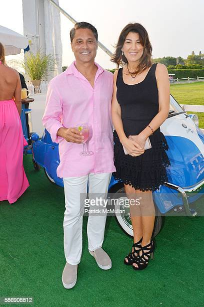 Larry Baum and Christina Steinbrenner attend the 2016 Hamptons Paddle Party for Pink Benefiting the Breast Cancer Research Foundation at Fairview on...