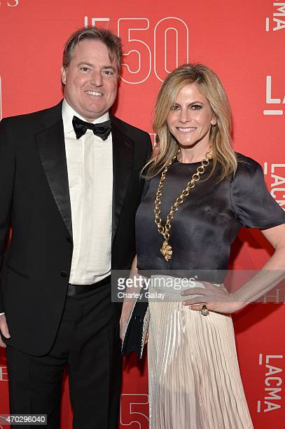 Larry Berg and Allison Berg attend the LACMA 50th Anniversary Gala sponsored by Christie's at LACMA on April 18 2015 in Los Angeles California