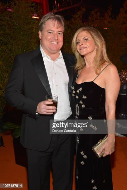 Larry Berg and LACMA Trustee Allison Berg attend 2018 LACMA Art Film Gala honoring Catherine Opie and Guillermo del Toro presented by Gucci at LACMA...