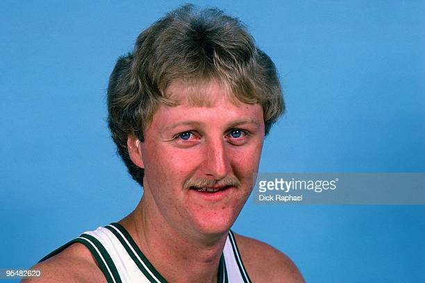 Larry Bird of the Boston Celtics poses for a portrait in 1984 at the Boston Garden in Boston Massachusetts NOTE TO USER User expressly acknowledges...