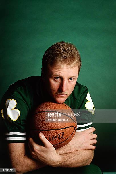 Larry Bird of the Boston Celtics poses in 1990 for a portrait in Boston, Massachusetts. NOTE TO USER: User expressly acknowledges and agrees that, by...