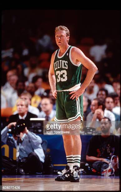 Larry Bird of the Boston Celtics versus the Los Angeles Clippers at the LA Sports Arena in Los Angeles CA