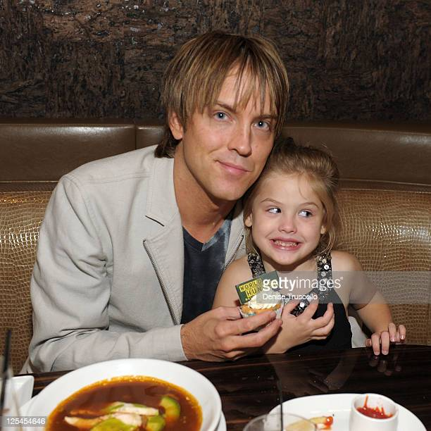Larry Birkhead and Dannielynn Birkhead attend Beso restaurant at CityCenter for the World Hunger Relief fundraiser on October 11 2010 in Las Vegas...