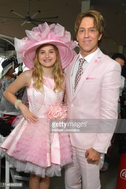 Larry Birkhead and Dannielynn Birkhead attend the 145th Kentucky Derby at Churchill Downs on May 04 2019 in Louisville Kentucky
