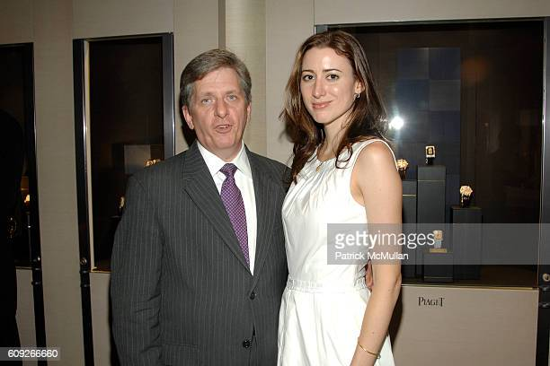 Larry Boland and Alexis Bryan attend Preview of New Limited Edition Designs by DooRi for PIAGET at Piaget Boutique on July 25 2007 in New York City