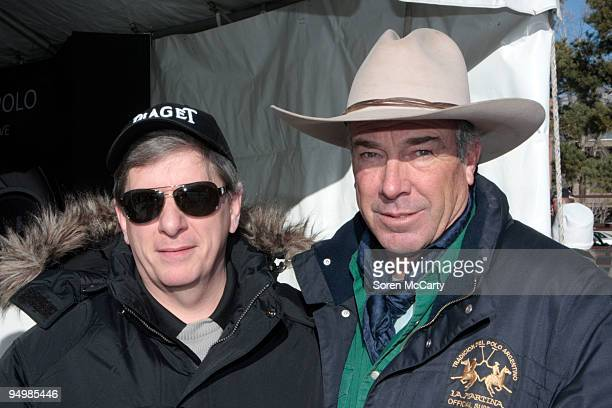 Larry Boland and Barry Stout attend the Piaget Polo On The SnowDay 2 at Wagner Park Polo Field on December 20 2009 in Aspen Colorado