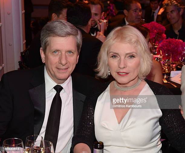 Larry Boland and Singer Actress Debbie Harry attend the 3rd annual amfAR Inspiration Gala New York at The New York Public Library Stephen A...