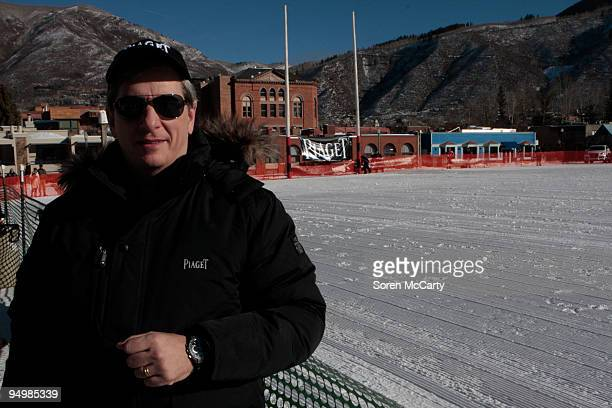 Larry Boland attends the Piaget Polo On The SnowDay 2 at Wagner Park Polo Field on December 20 2009 in Aspen Colorado