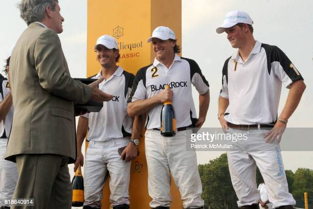 Larry Boland Nick Roldan Larry Austin and HRH Prince Harry of Wales attend 2010 VEUVE CLICQUOT Polo Classic at Governors Island on June 27 2010 in...