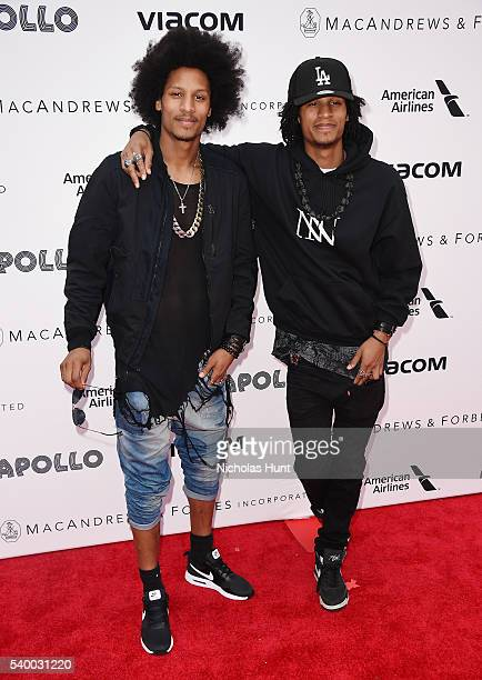Larry Bourgeois and Laurent Bourgeois of Les Twins attend 11th Annual Apollo Theater Spring Gala at The Apollo Theater on June 13 2016 in New York...