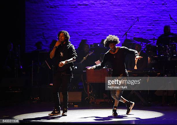 Larry Bourgeois and Laurent Bourgeois of Les Twins proform at the 11th Annual Apollo Theater Spring Gala at The Apollo Theater on June 13 2016 in New...