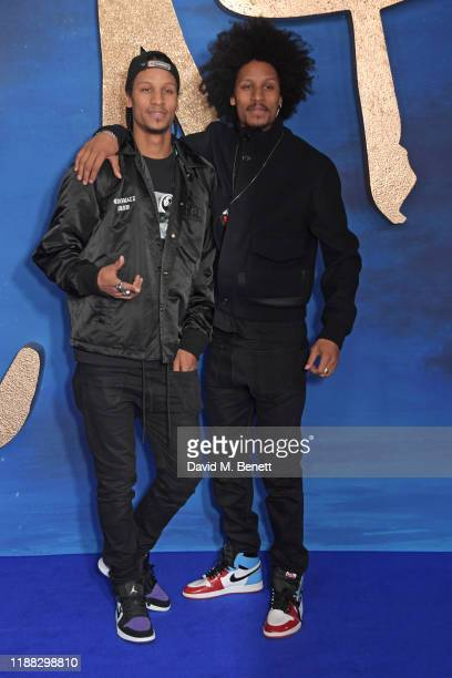 Larry Bourgeois of Les Twins and Laurent Bourgeois of Les Twins attend a photocall for Cats at the Corinthia Hotel London on December 13 2019 in...