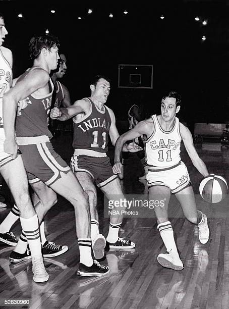 Larry Brown of the Washington Capitols of the ABA drives to the basket against the Indiana Pacers circa 1969 in Washington DC NOTE TO USER User...