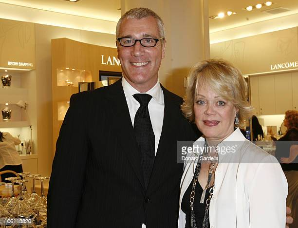 Larry Bruce and Candy Spelling during SAKS Fifth Avenue Tower Cancer Research Foundation Celebrate WANT IT at Saks Fifth Avenue in Beverly Hills...