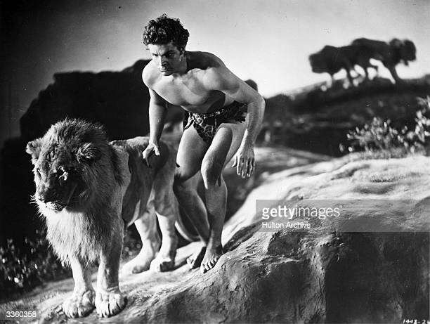 Larry 'Buster' Crabbe born Clarence Linden Crabbe stars in 'King Of The Jungle' directed by H Bruce Humberstone for Paramount