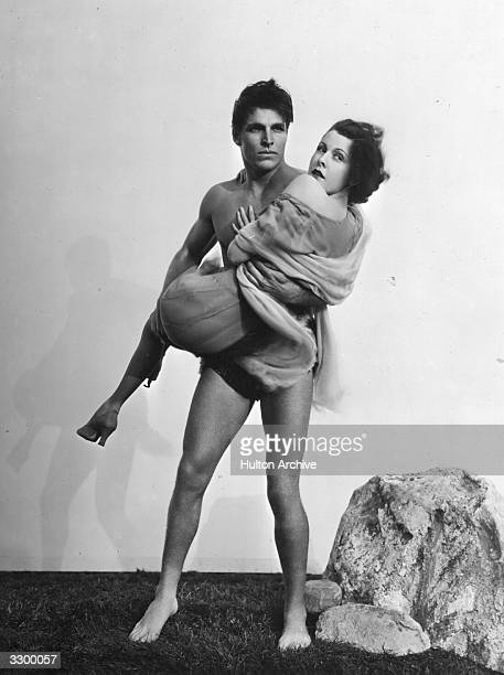 Larry 'Buster' Crabbe stars in 'King Of The Jungle' with Frances Dee formerly Jane Dee The film was directed by H Bruce Humberstone for Paramount