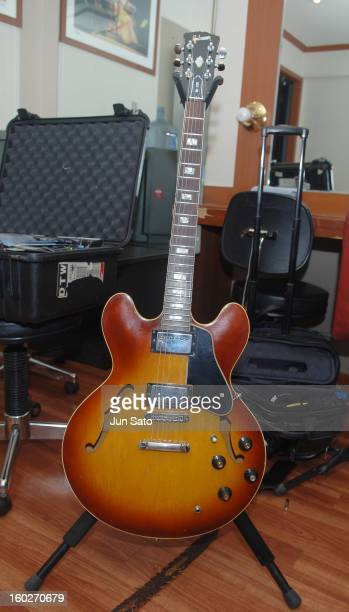 Larry Carlton's Guitar 1968 Gibson ES335 during Fourplay in Concert at Sejong Cultural Center in Seoul August 5 2006 at Sejong Cultural Center in...