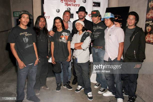 Larry Clark director and Brad Beckerman with the cast of Wassup Rockers
