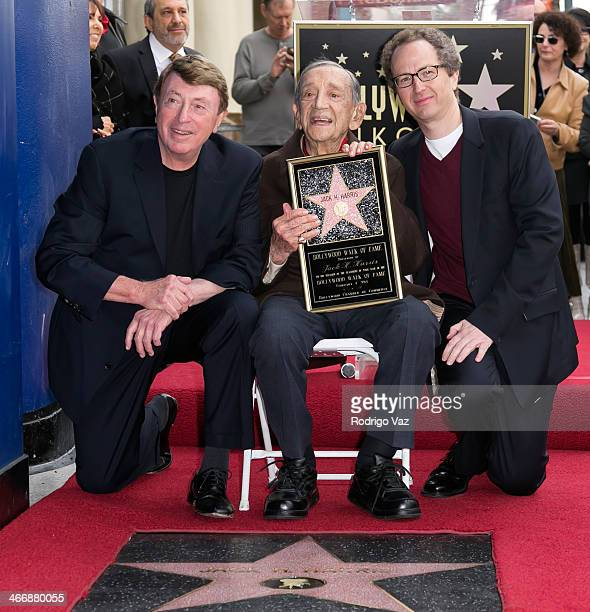 Larry Cohen Jack H Harris and Brian Witten attend as producer Jack H Harris is honored with a Star on The Hollywood Walk of Fame on February 4 2014...
