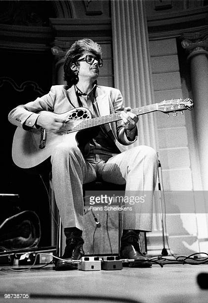 Larry Coryell performs live on stage with guitar at Concertgebouw in Amsterdam, Netherlands on July 19 1983