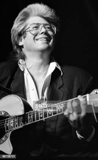 Larry Coryell performs with guitar at the North Sea Jazz Festival in the Hague, Holland on July 09 1989