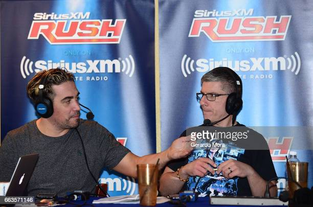 Larry Dallas and Dave LaGreca speak during the SiriusXM's Busted Open Live From WrestleMania 33on April 1 2017 in Orlando City