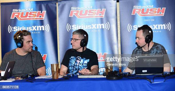 Larry Dallas Dave LaGreca and Doug Mortman speak during the SiriusXM's Busted Open Live From WrestleMania 33on April 1 2017 in Orlando City