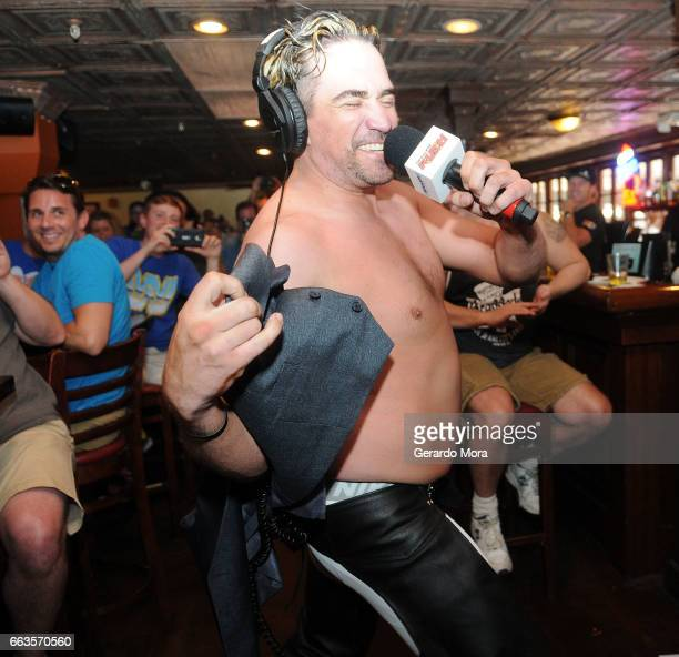 Larry Dallas interacts with the audience during the SiriusXM's Busted Open Live From WrestleMania 33 on April 1 2017 in Orlando City