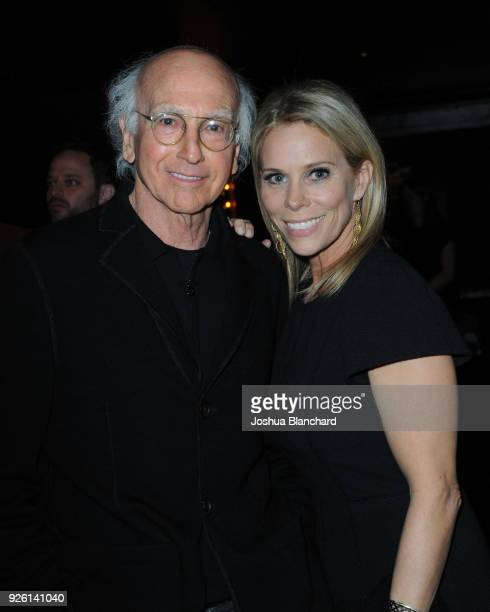 Larry David and Cheryl Hines attend Keep It Clean To Benefit Waterkeeper Alliance on March 1 2018 in Los Angeles California